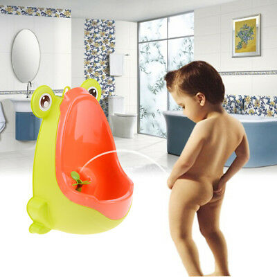 1Pc toilet potty training kids toddler trainer seat baby children urinal frog UQ