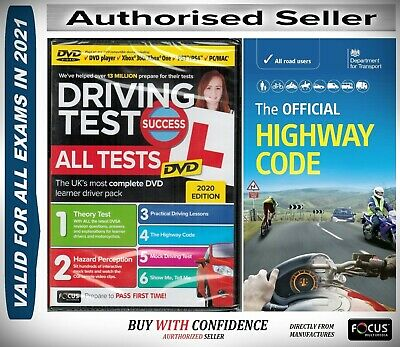 2018 Driving Theory Test + Hazard test CD Rom DVD Highway Code Book Car*atdvHw