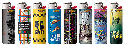 BIC Special Edition New York Series Lighters 2019 New Designs, Set of 8 Lighters