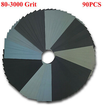 80-400 600 800 1000 1200 1500 2000 2500 3000Grit Wet Dry Assorted Wood Sandpaper