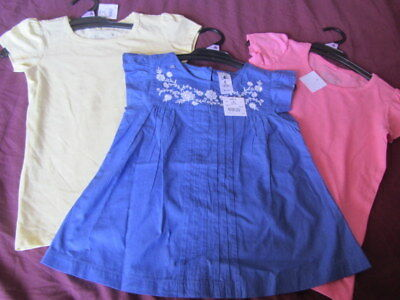"3 X Girls Size 6 Tops ""hundreds & Thousands"" Nwt"