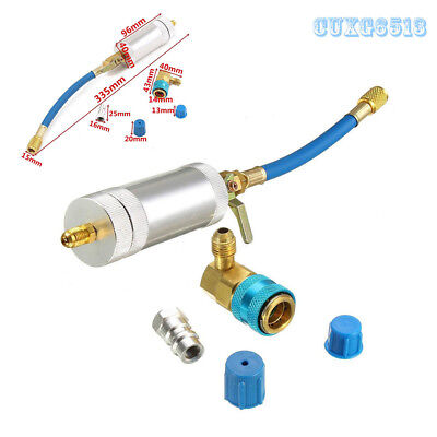 Durable 335mm Length Car Oil & Dye Injector+Low R134A Quick Coupler Adapter Kit