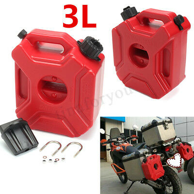 Motorcycle Car Plastic Portable Jerry Can Gas Fuel Tank Petrol ATV UTV Gokart 3L