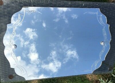 FRENCH Antique Vintage Art Deco Wall Mirror 1920'S - 1930'S FRAME LESS MANTLE