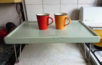 Vintage 1950's W.H Roberts & Sons NSW Wooden Folding Breakfast Serving Tray