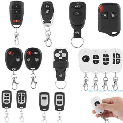 433MHz 1/2/3/4 Buttons Channel RF 1~4 Wireless Remote Control Gate Transmitter