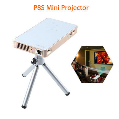 Mini DLP Projector Airplay Mirroring 1080P Media Player+ Tripod 854*480 Pocket A