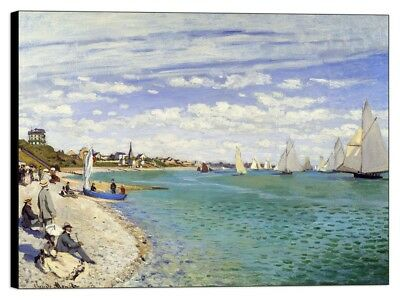 Quadro Stampa su pannello in legno mdf Monet - Regatta at Sainte-Adresse