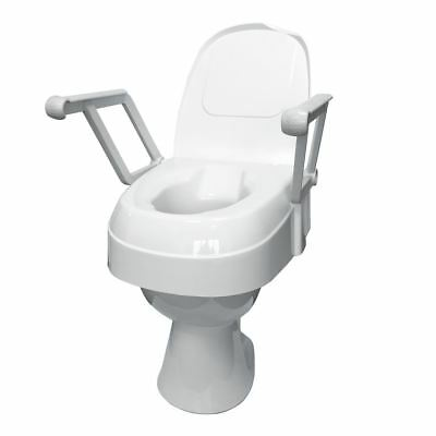 Drive Height Adjustable Raised Toilet Seat with Lid and Arms