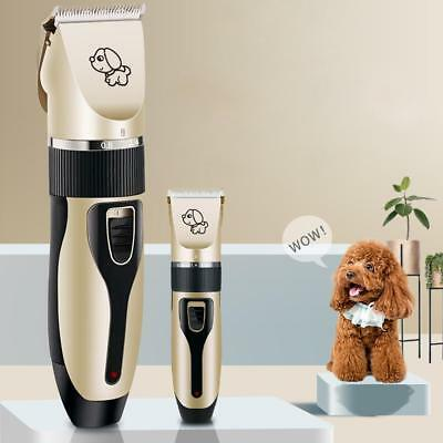 Rechargeable Cordless Pet Dog Cat Grooming Trimmer Electric Hair Clipper Kit AU