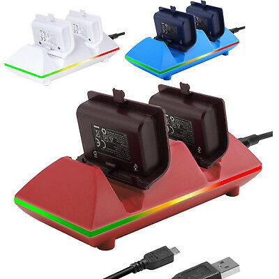 MoKo XBOX ONE Dual Charging Dock Station Controller Charger w/ 2x800mAh Battery
