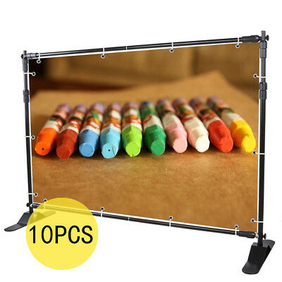 10PCS 10' X 8' ADJUSTABLE BANNER STAND REUSEABLE TELESCOPIC TRADE SHOW Wall