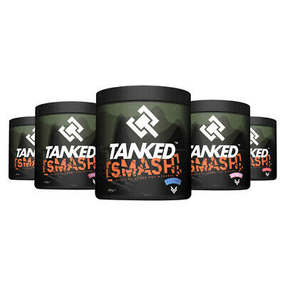 Tanked Smash Pre Workout Powder 50 Nitric Oxide Servings Strong Muscle Pump
