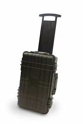 Waterproof Wheeled Rolling Travel Equipment Tool Hard Carry Case Pick Pluck Foam