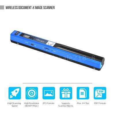 900DPI Handheld Portable iScan Document Photo LCD Scanner A4 Color Scanning D3M5