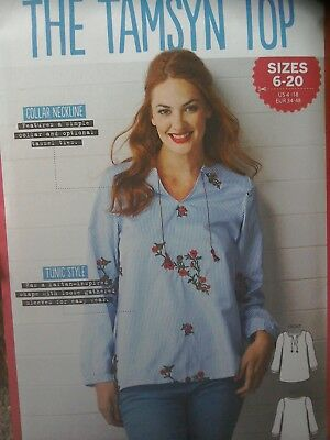 Simply Sewing Uncut Sewing Pattern 'The Tamsyn Top' size 6-20