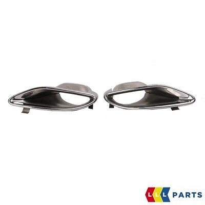 New Genuine Mercedes E Class W212 Amg Tail Exhaust Pipe Trim Cover Set