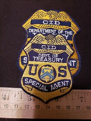 Treasury Department Special Agent Police Patch Cid  Federal Badge Seal Us Mint
