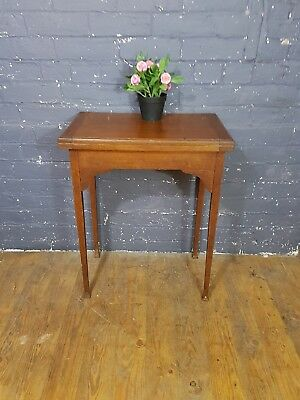 Occasional oak Side table, edwardian card table