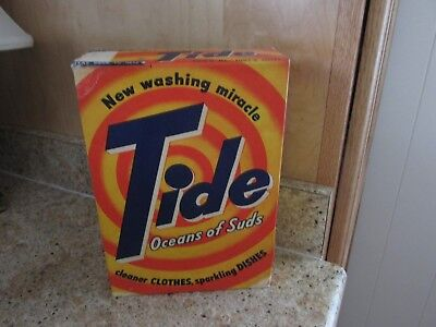 "Vintage Unopened Box Of Tide Detergent ""oceans Of Suds"" One Pound 3 Ounces"