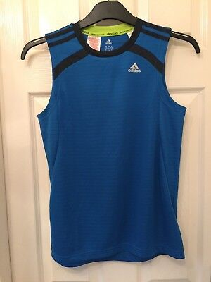 Boys (Adidas) Blue Climacool Gym Vest Sports Top. Age 13-14 Years.
