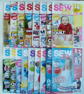 Sew Hip Sewing Magazine WITH PATTERNS Numbers 6 - 24 SELECT ISSUE