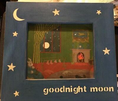 "Goodnight Moon 11"" By 12.5"" Framed Picture Nursery Baby"
