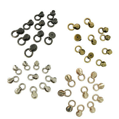 10Pcs Swivel Stud with Ring Leather Craft Screwback Rivet for Shoes Collar