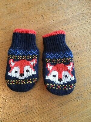 Jojo Maman Bebe Fox Mittens 1-2 Years