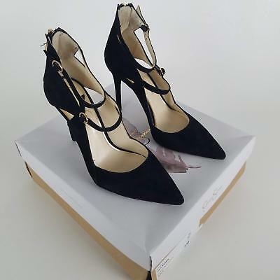 9698a7a6fbf Jessica Simpson Women s Liviana Ankle Strap Pointed Toe Pump Black 8 M US   3732