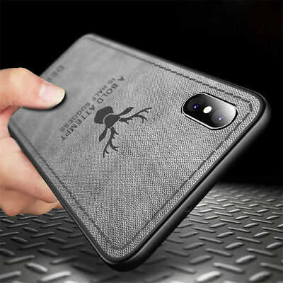 For iPhone XS Max 6S 7 8 Plus Patterned Case Hybrid TPU Leather Shockproof Cover