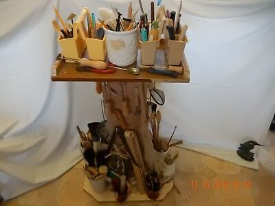 Pottery equipment - tools, brushes and misc. items