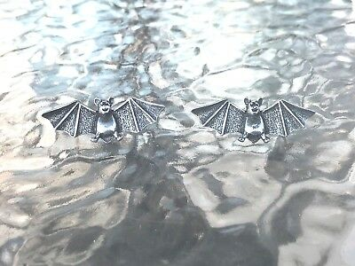 NIGHT FLYER 2 His & Hers BAT PEWTER PINS FOR BIKERS or Collectible Pin All New.