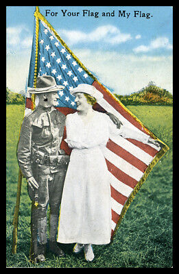 Patriotic Postcard: Wwi For Your Flag And My Flag, 1918