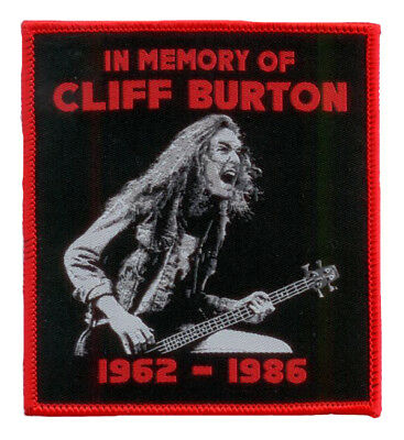 Aufnäher IN MEMORY OF CLIFF BURTON  Tribute Patch  red border edition  Metallica