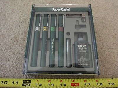 Faber-Castell fountain pen, drafting pen set with case. Nice!