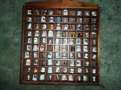 100 Thimble Collection Sterling China Metal Wood Willkie IHC+++