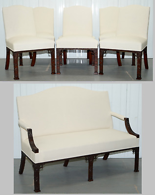 Rare Authorised Reproduction Chinese Chippendale Number 10 Downing Street Suite