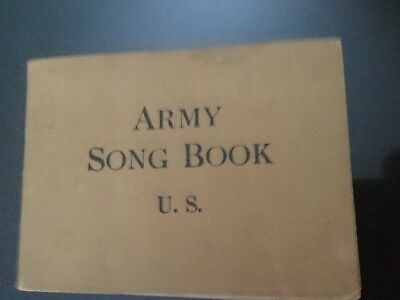 WW1 US Army Song Book