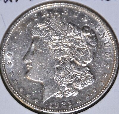 1921-D AU Almost Uncirculated MORGAN SILVER DOLLAR $1 COIN