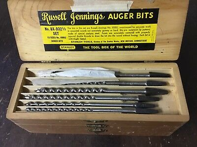 Vintage Russell Jennings Auger Bits Incomplete Set Used