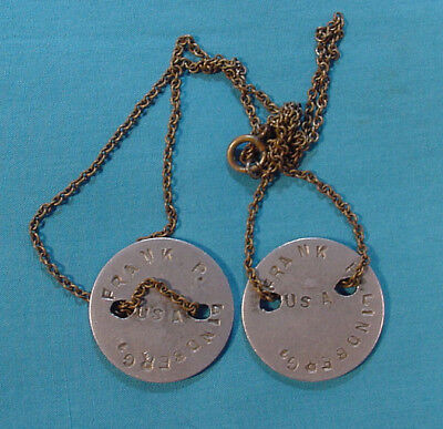 Wwi Us Army Dog Tags On Chain