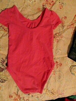 Pink Bow & Heart Leotard By Old Navy Size 3T- Cotton Blend