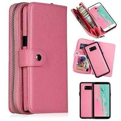 Galaxy S8 Plus Wallet Case, Magnetic Detachable 2-In-1 Slim Case PU Leather