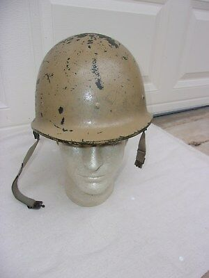 Iraqi M80 Combat Helmet--Operation Desert Storm Bringback--Complete and NICE