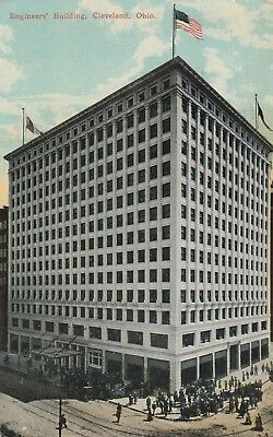 (T) Cleveland, OH - Engineer's Building - Street Corner View - 9/12/1911