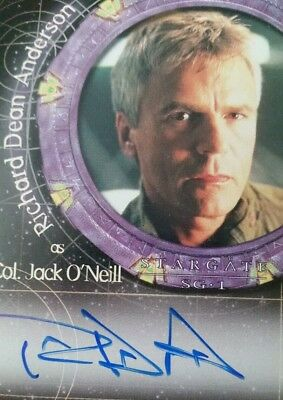 *RARE* RICHARD DEAN ANDERSON Jack O'Neill STARGATE SG1 Autograph Card SIGNED NO#