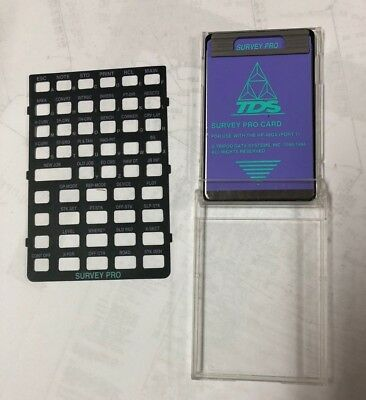 TDS Survey Pro Card for HP 48GX Calculator for Surveying data collection