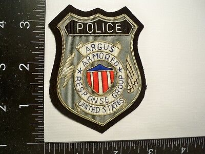 Vintage Federal DOE FRB Argus Security Bullion Patch Contract Courier Police