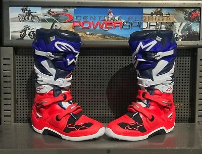 NEW Alpinestars Tech 7 LIMITED EDITION Union Boot Bright Blue/Navy/White